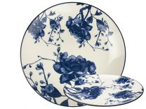 Gusta Out of the Blue Peony Dinerbord - Blauw - Porselein - Ø 26,5 cm