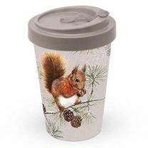 Ambiente Squirrel In Winter Travel Mug - Bamboo - 400 ml