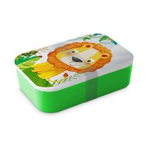 PPD Happy Lion Lunchbox - Bamboo - 19,8 cm x 12,8 cm